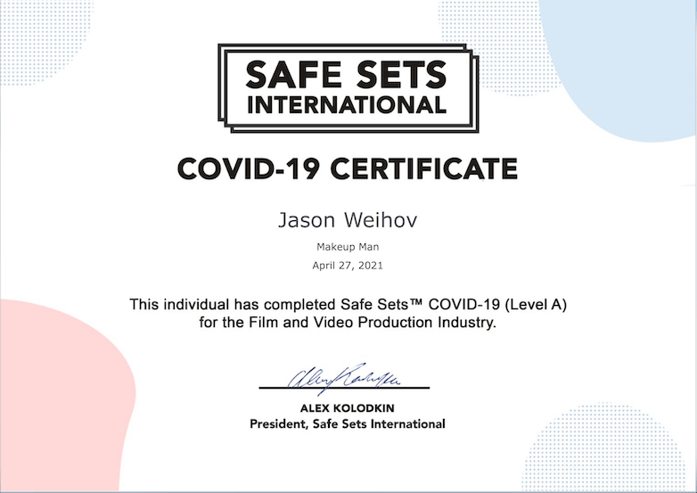 covid-19 certificate makeupman